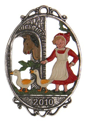 Gaenselies 2010 Pewter Ornament