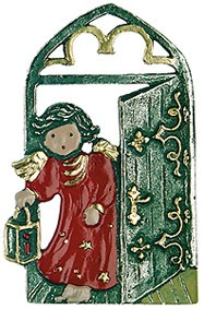Pewter Angel at the Gate Ornament