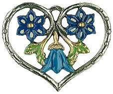 Heart Framed Blue Flowers