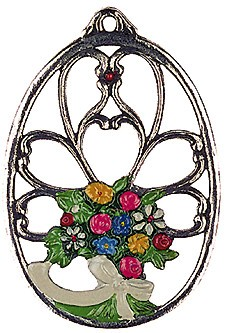 Flower Bouquet Pewter Ornament