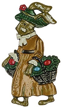 Mom with Baskets Pewter Ornament