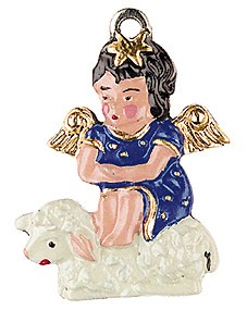 Angel Sitting on Lamb
