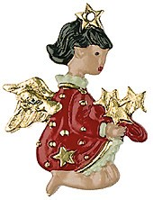 Stars Baby Angel Pewter Ornament