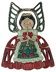 Angel Standing Bow, Red with Star ornament
