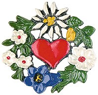 Edelweiss and Heart Wreath