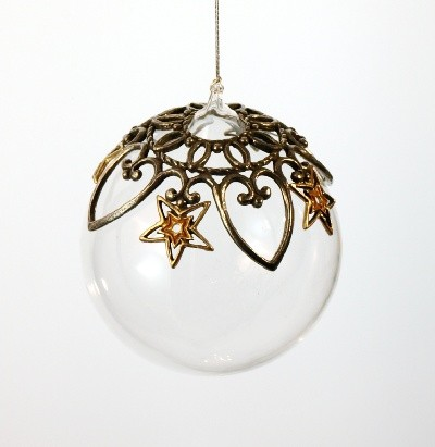 Glass ball ornament-yellow