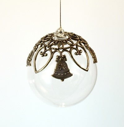 Glass Ball Bell Ornament-Antique