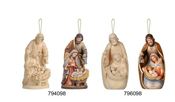 Nativity Ornaments wood carved
