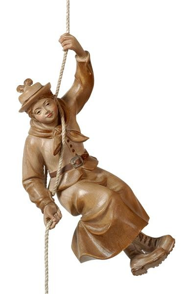 Mountaineer Woman Hanging Wooden Figurine
