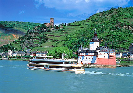 Rhine River Katz Germany Poster Laminate