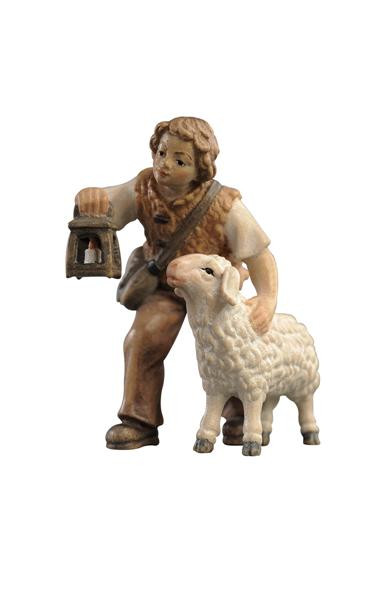 Alpina Boy with Sheep and Lantern