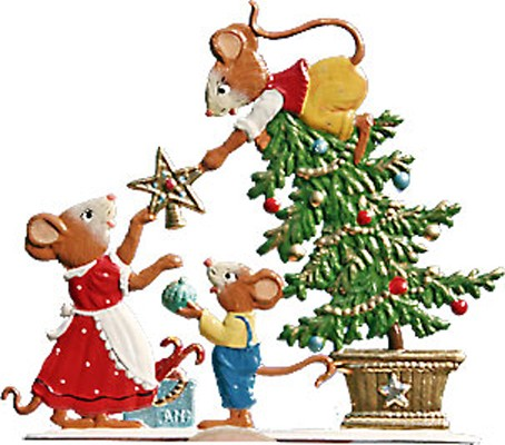 Schweizer Mouse Family Decorating Tree