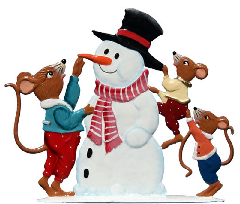 Schweizer Mice with Snowman