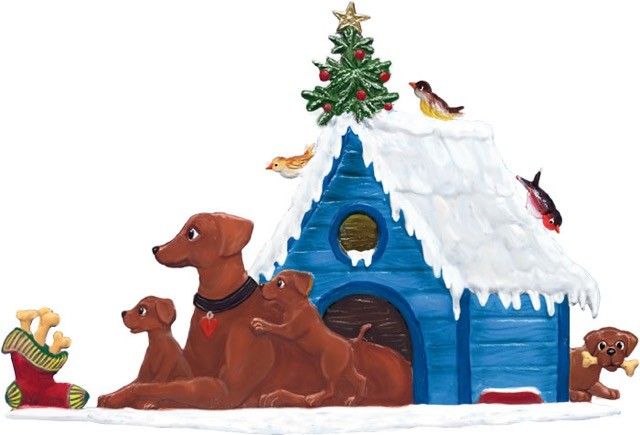 Doggie Christmas House