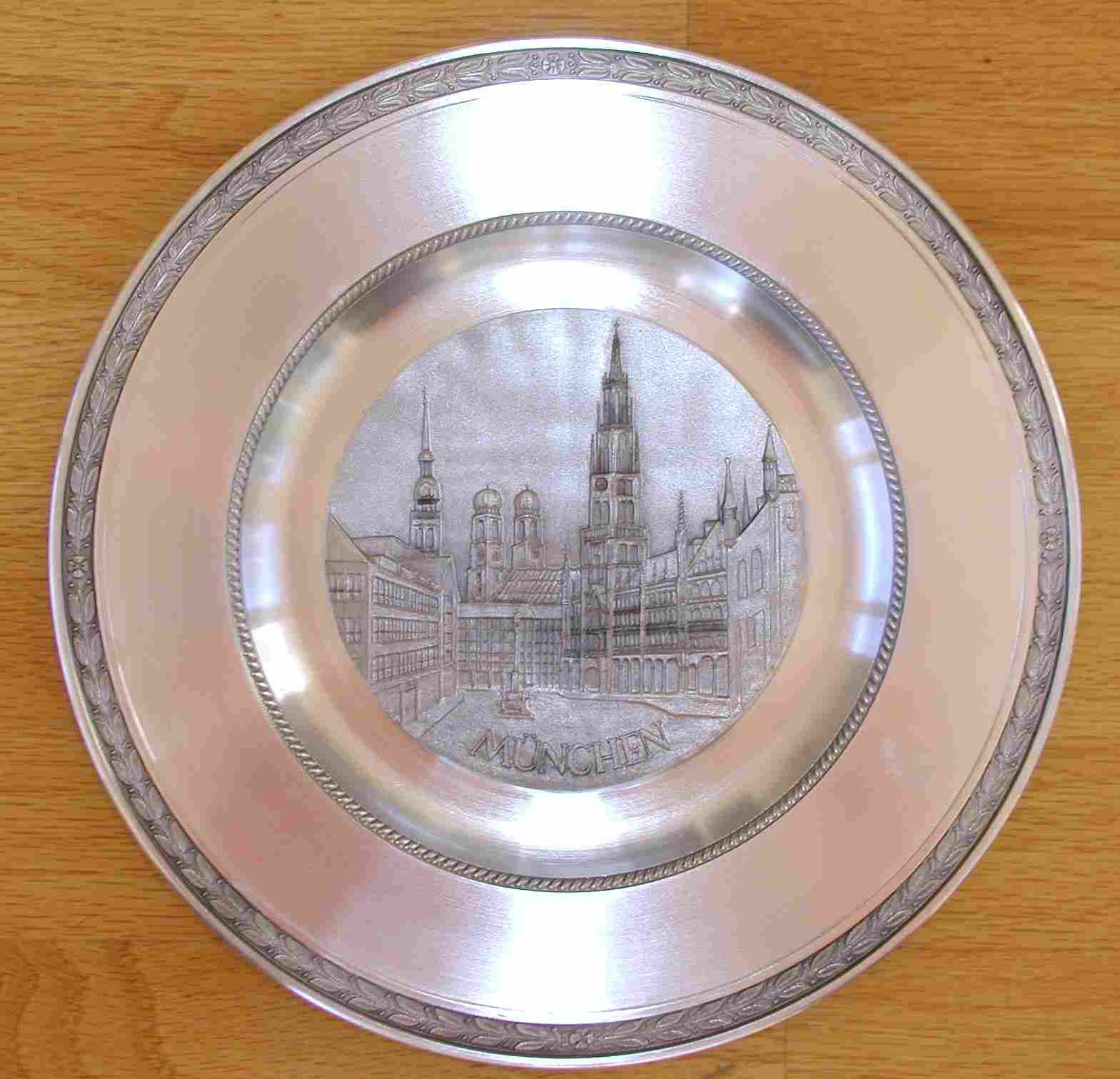 Munich Pewter Plate