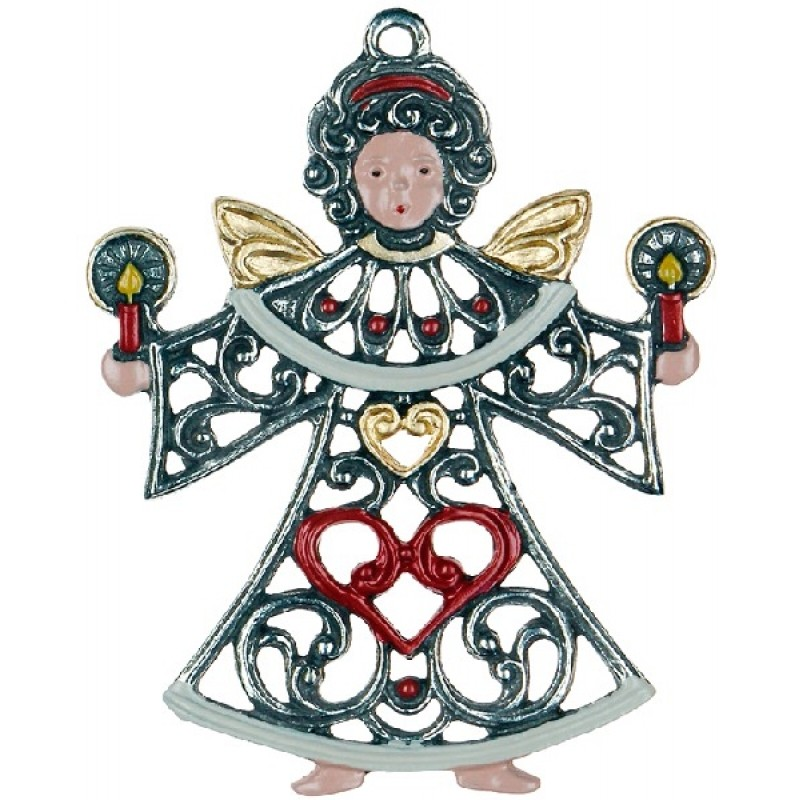 Filigree Angel with Two Candles