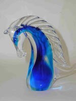 Kisslinger Crystal Horse Head Figurine