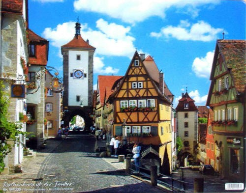 Rothenburg Germany Mousepads Almost Europe Store