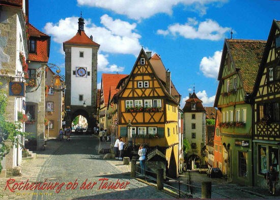 Rothenburg City Germany Poster laminated