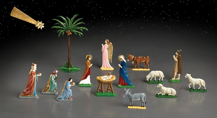 Pewter Schweizer Nativity Set