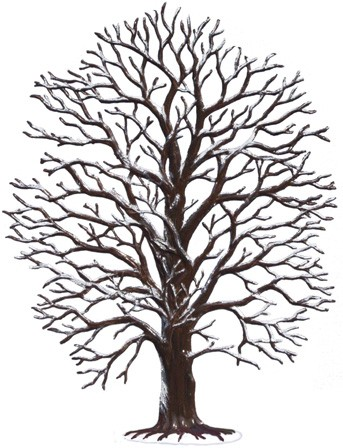 Large Bare Winter Tree Pewter Figurine