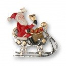 Santa Claus with Bell and Sleigh