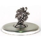 Pewter Grape Leaves Lid