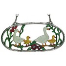 Geese Pewter Wall Ornament