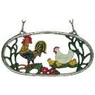 Hen and Rooster II  Pewter Ornament