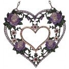 Heart with Purple Roses
