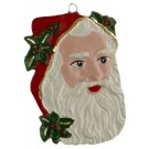 Santa Claus Face pewter ornament