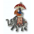 Maharaja on Elephant Figurine