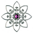 Pewter Tree Star with Iris Stone