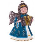 Angel with Harmonica Pewter Ornament