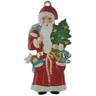 Standing Santa Pewter Ornament