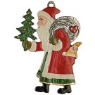 Santa from the Side Pewter Ornament