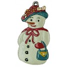 Mama Snowman Pewter Ornament