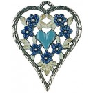 Heart Framed Aqua Flowers