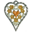 Heart Framed Yellow Flowers
