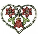 Heart Framed Red Flowers