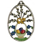 Easter Baske Pewter Ornament