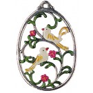 Birds Pewter Wall Ornament