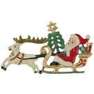 Christmas Sleigh  Pewter Ornament
