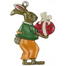 Bunny and Egg  Pewter Ornament