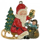 Santa and Doll Pewter Ornament