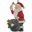 Santa and Sack Pewter ornament