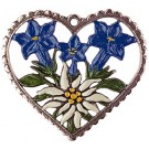 Heart Framed Enzian and Edelweiss