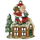 St. Nicholas on Roof Pewter Ornament