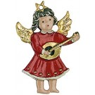 Mandolin Baby Angel Pewter Ornament