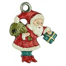St. Nicholas and Package Pewter Ornament